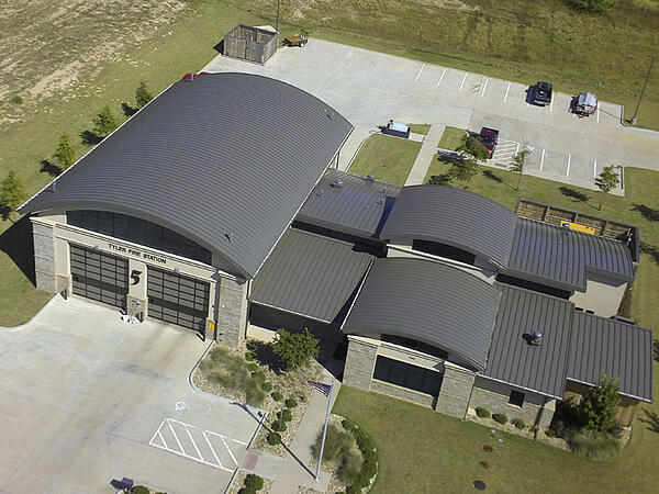 Maxima Standing Seam System on Fire Station