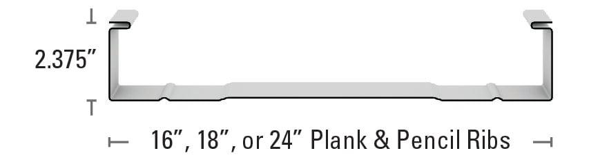 238T Plank & Pencil Ribs