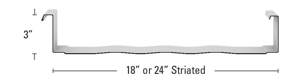 """Maxima 3"""" Striated"""