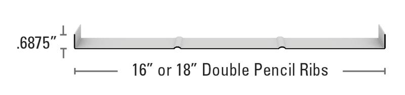 Medallion Double Pencil Rib