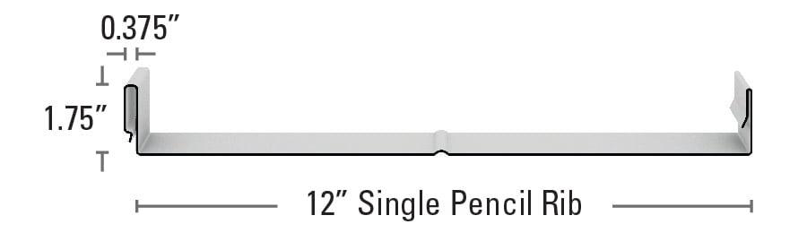 Medallion-Lok Single Pencil Rib