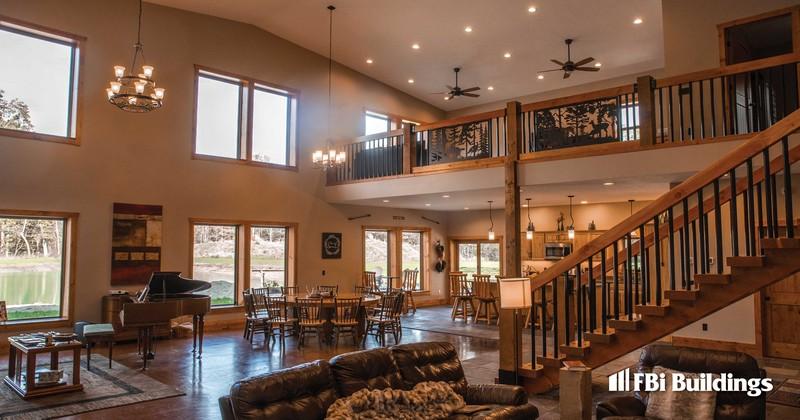 Arrowhead Pass_Barndominium_Max-Rib_ Patrician Bronze_Interior Living Space